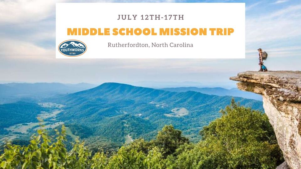 SM Middle School Mission Trip 2020 STUDENT WAIT LIST Registration